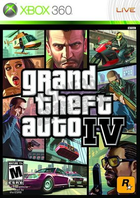 【二手遊戲】XBOX360 俠盜獵車手4 GRAND THEFT AUTO IV 4 GTA4 英文版【台中恐龍電玩】