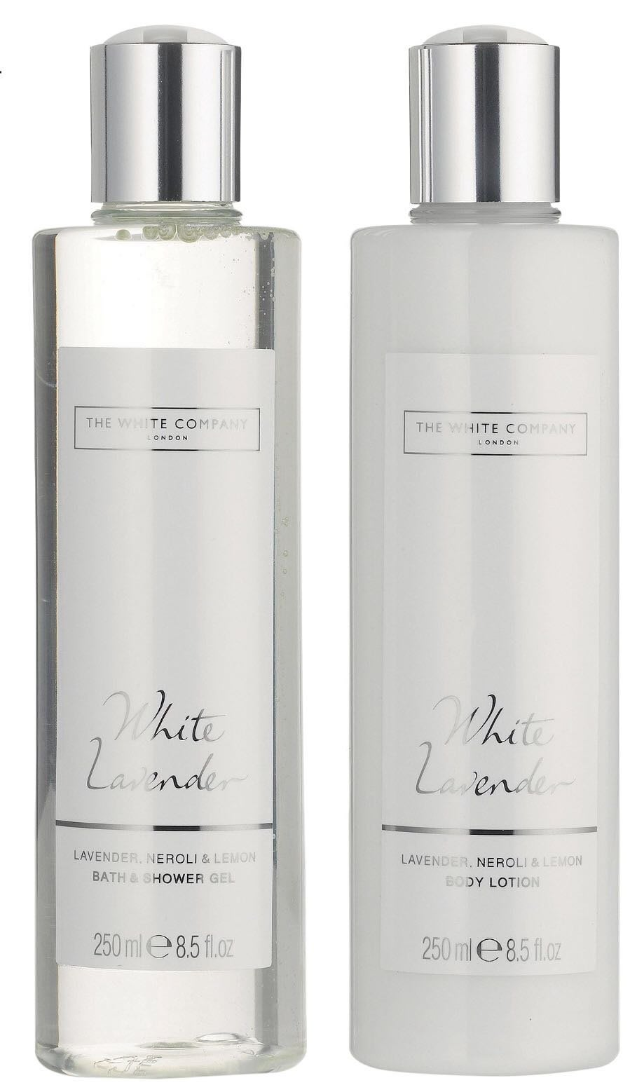 英國THE WHITE COMPANY 白色薰衣草沐浴乳與身體乳 250ml(預購