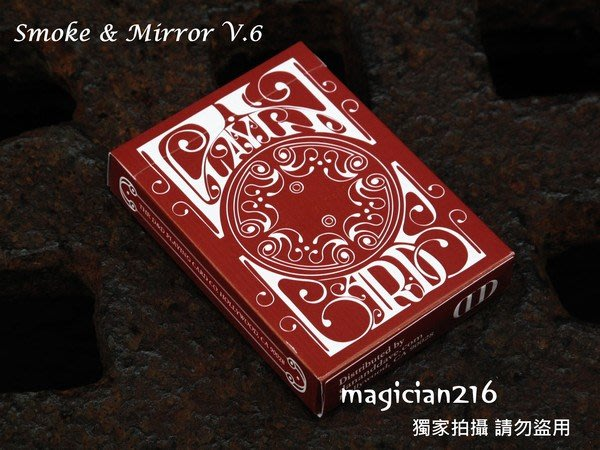 [絕版商品]美國Bicycle撲克牌 Smoke&Mirror:v6 Red ~ 煙與鏡6版~復古紅~ 第一版 非再版