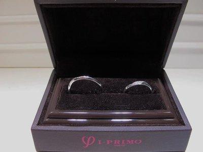 金永珍珠寶鐘錶* I-Primo 原廠鉑金對戒 小鑽 男女對戒 PT900 內鑲彩鑽  僅一對*