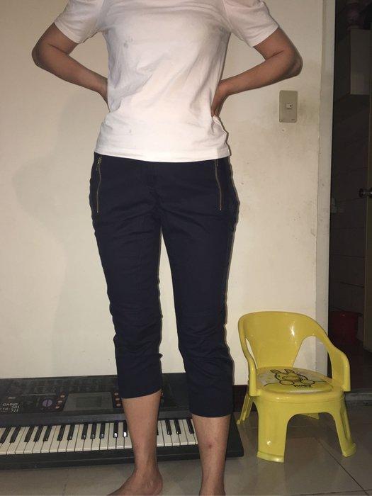 全新Iroo深藍色八分褲 合身 七分褲 吊牌未拆 尺寸38