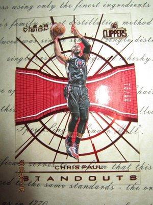 新賣家~15/16~Chris Paul /99~CLEAR VISION~紅版~壓克力~浮刻~限量/99~