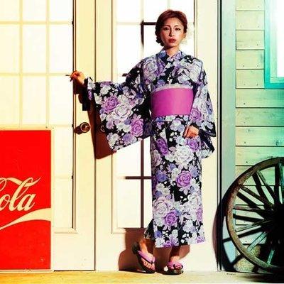 ViVi雜誌 玫瑰櫻花 花朵浴衣和服四件組 日雜款 LUCI日本代購