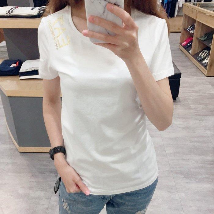 【現貨】女 Emporio Armani EA7 LOGO 短袖T恤 黑色 保證正品 歡迎來店參觀選購