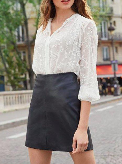法國巴黎◇ KOOKAI 2020秋冬新款╭ 帥氣小羊皮短裙