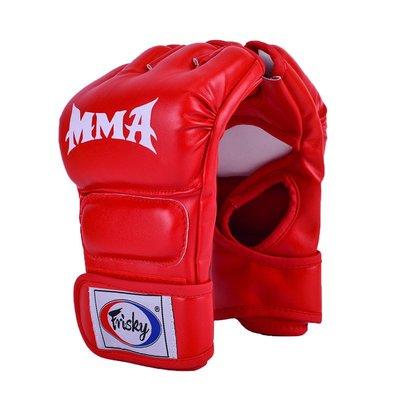 新風新品-FRISKY拳擊手套男半指ufc拳套成人分指散打訓練五指打沙袋mma手套