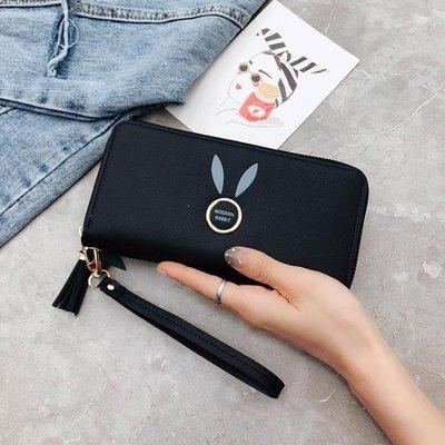 ZIHOPE 女士手拿錢包長款新款韓版純色大容量拉鍊零錢包女手腕手機包ZI812