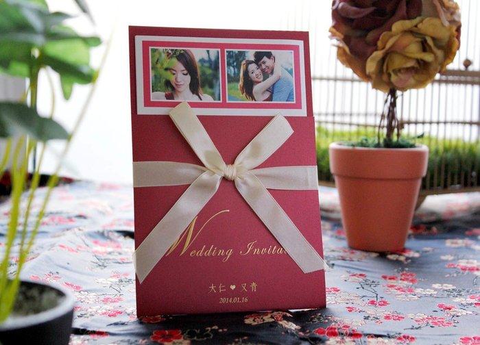 『潘朵菈精緻婚卡』※簡約時尚創意婚卡※【SP系列14元喜帖】喜帖編號:SP-7602