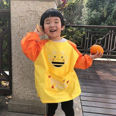 Henry小鋪-兒童寶寶畫畫衣吃飯衣圍兜防水防臟男童女童小孩幼稚園#兒童雨衣#雨鞋