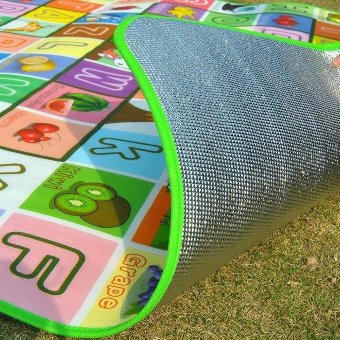 防潮墊子戶外春游防水沙灘睡墊爬行公園草地野餐墊子泡沫鋁膜加厚