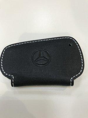 台灣賓士原廠BENZ 鑰匙皮套鑰匙包保證100% 真品(C200,C250,C300,E200,E250)荔枝紋銀線