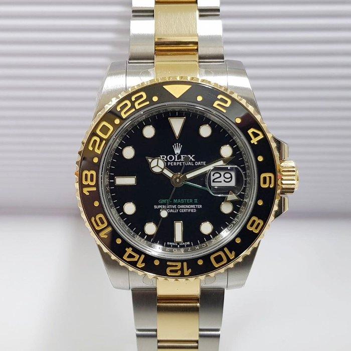 ROLEX勞力士 格林威治II型 GMT 116713LN盒單全 部分膠膜未拆 AD卡 錶徑40 大眾當舖 編號5599