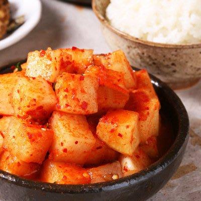 LENTO SHOP -韓國辣蘿蔔泡菜 韓式辣蘿蔔 開胃小菜 10公斤餐廳小吃專用量販包 (冷藏宅配)