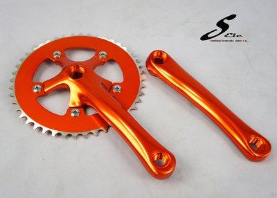 SEic單車工廠►單速車/自行車►曲柄大盤 輕量 44T 多色可選 X 橘色