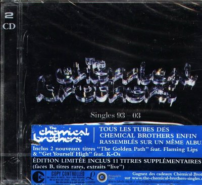 K - THE CHEMICAL BROTHERS - SINGLES 93-03 - CD+DVD - NEW
