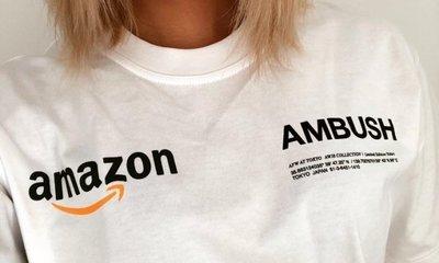 AMBUSH X Amazon HOODIE 電商平台跨界聯名短袖 TEE 白色 黑色
