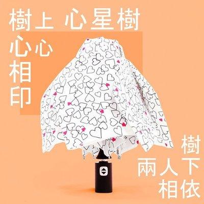 【愛戀限定】心星相映 ~ 好輕收自動傘 (白) / 雨傘防UV傘防風傘三折傘折疊傘自動傘兩用傘 (免運)