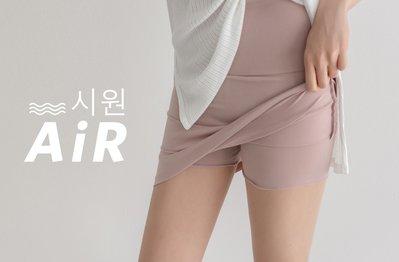 /SAFA/ 韓 進階寬版包小腹涼感假兩件彈性絲質安全褲加裙【0615U162】