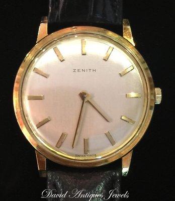 ((天堂鳥)) 新品刊登 ☞經典錶款ZENITH 真力時SEALS TWICE系列18K圓形瑞士手上鍊紳士錶 ☞