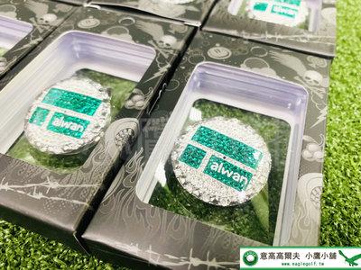 [小鷹小舖] SILVER WORLD TAIWANCOURT1 IN 高爾夫 羽球金牌紀念版球標 磁鐵帽夾 麟洋配奪金
