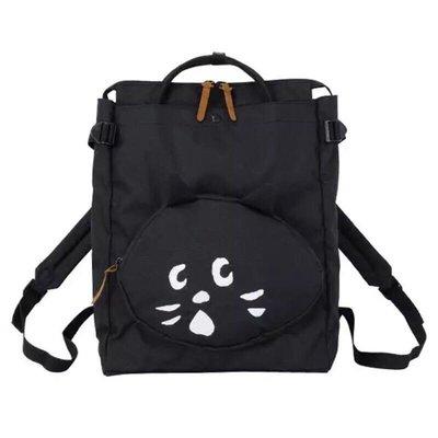 ?️蕾媽歐夏蕾貓屋?️ Ne-Net喵喵 大貓臉拉鍊背包 雙肩背帶