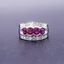 【D-W 香港鑽石世界】全新18K白金 古典精緻 天然紅寶鑽戒--1407-88