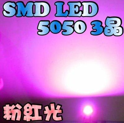 光展 PLCC6 SMD 5050型(2220)三晶 粉紅光 LED 小燈 方向燈 定位燈 指示燈 汽機車 特價1元