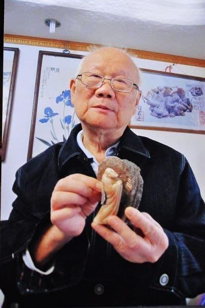 國寶大師作品~~國寶壽山石精品擺件-------老性旗降石 (精雕達摩) 中國工藝美術大師林發述作