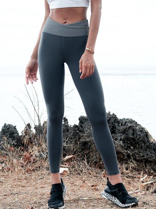 運動褲高腰提臀健身褲女彈力緊身顯瘦跑步速乾運動褲瑜珈褲女--崴崴安