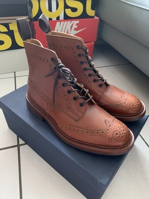 Tricker's Trickers Stow Brogue Boots UK8 雕花 牛津靴 全新品