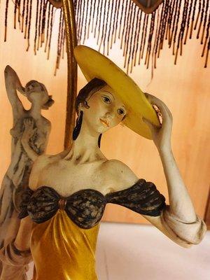 { Ruminant 慕名古物 } 1984 Bonyboy華麗傘下淑女與雕像老檯燈