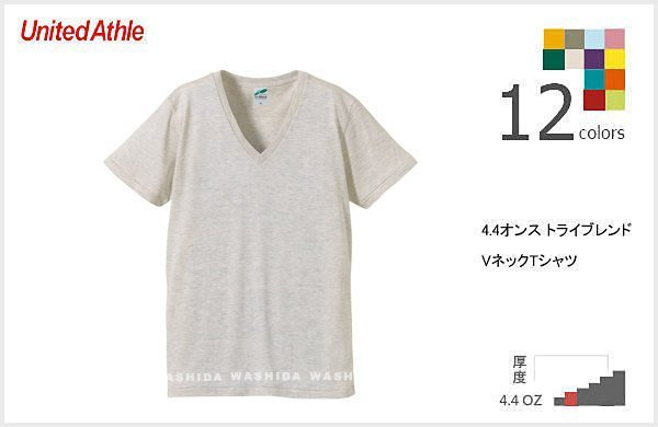 WaShiDa【UA1098】United Athle × T- Shirt 4.4 oz 4.4磅 素面 雪花 短袖 輕柔 復古感 V領 T恤 - 現貨