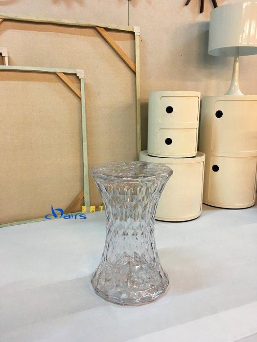 【挑椅子】 【促銷品限門市自取】Stone Stool 水晶凳 (復刻品) 547 透明