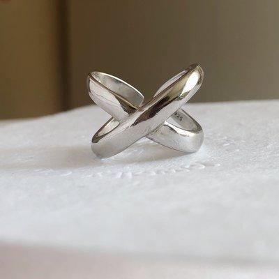 戒指「偶然accident」X交叉指環 925銀極度簡戒指 小眾設計師原創日常