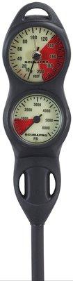 【Water Pro水上運動用品】{Scubapro}-U-line Console 2 兩用錶 深度+殘壓