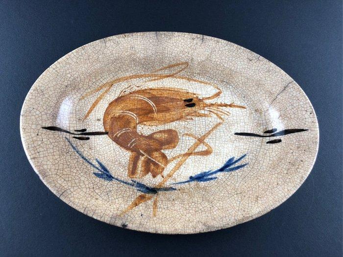 臺灣早期 蝦盤