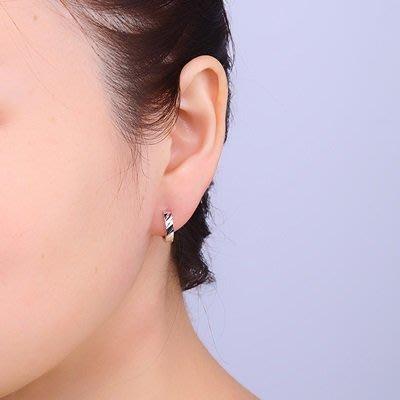 925純銀 耳 環 簡約耳扣-平行線條中性時尚男女飾品73ql36[獨家進口][巴黎精品]
