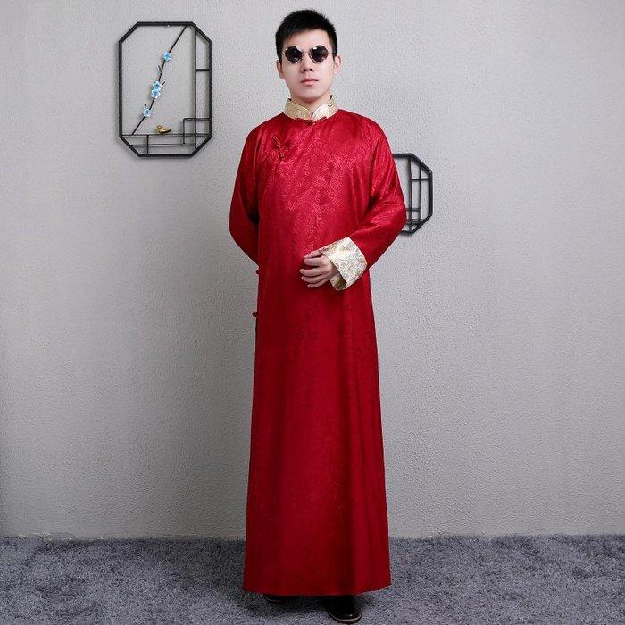 高雄艾蜜莉戲劇服裝表演服*古裝長袍/相聲表演唐裝馬掛*購買價$1200元/出租價$400元