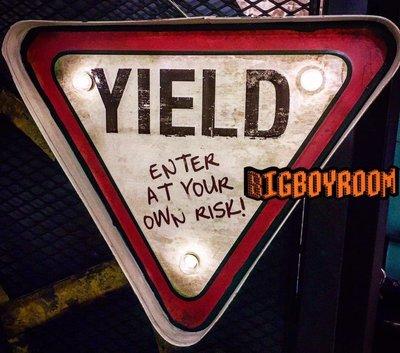 【BIgBoyRoom】工業風家具 壁燈YIELD 66號公路牌標語 Loft家飾居家壁掛裝飾 餐廳咖啡廳 民宿酒吧