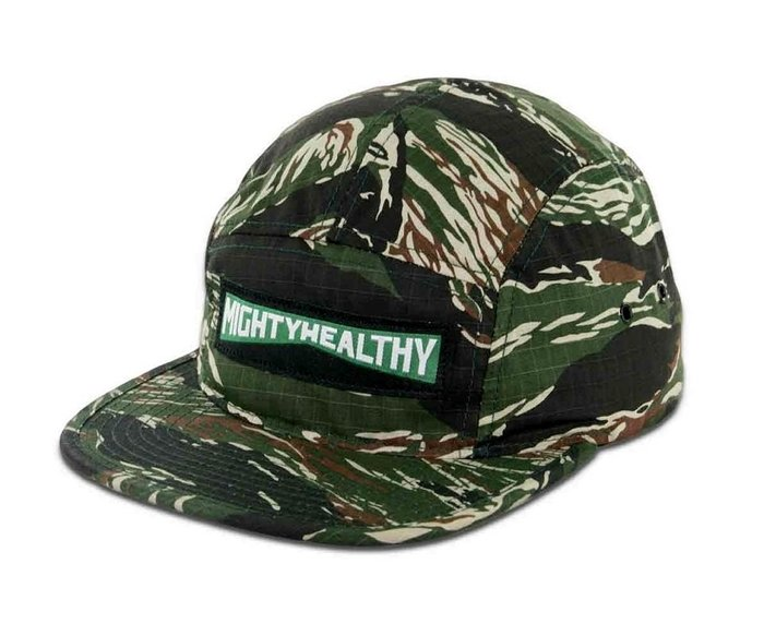{ POISON } MIGHTY HEALTHY GENERAL CAMP CAP Ripstop 面料迷彩五片帽