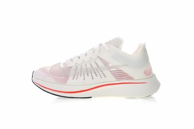 D-BOX  Nike Lab Zoom Fly SP 高彈力 網狀透氣 跑步鞋 白橘紅 AJ3172-100