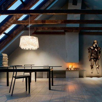 Maison de luxe LOUIS POULSEN COLLAGE 600 三層雕花吊燈 白