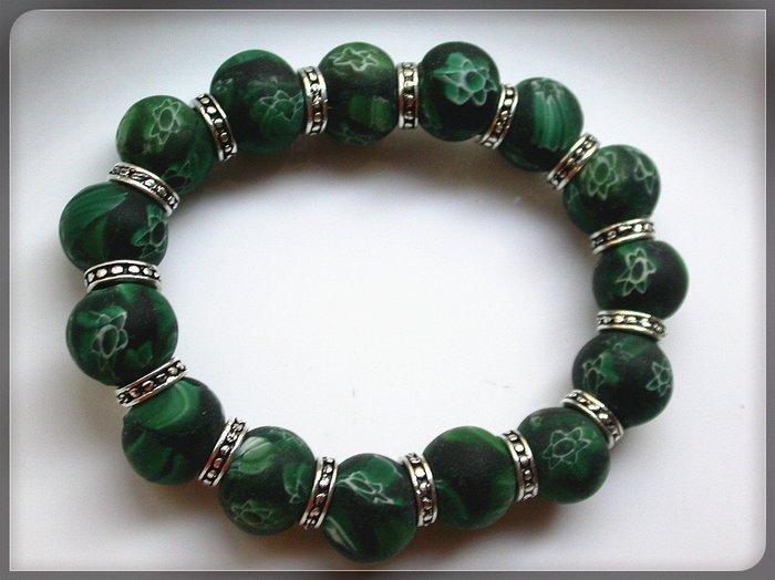 【雅之賞|藏傳|佛教文物】*特賣*尼泊爾古法老琉璃14mm手珠~092701