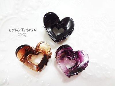 【Love Trina】韓國進口。正韓✈ 6902-0373。縷空愛心小抓夾。小鯊魚夾。髮飾 (3色) 台北市
