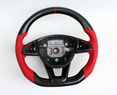 D19011607 BENZ 賓士 CLA W117 W205 運動版 卡夢 碳纖維 平底方向盤