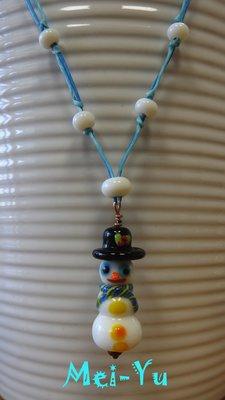 豬豬姨陶屋~雪人~雪人鑲嵌玻璃掛飾~SNOWMAN~SNOWMAN~Stained Glass~