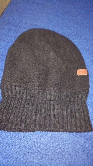 法國AIGLE 黑色保暖反摺帽