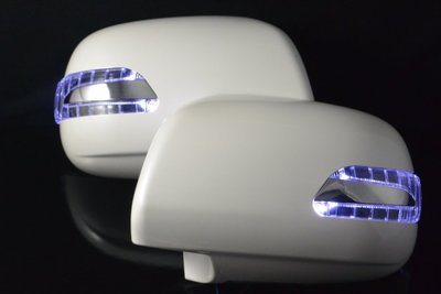 金強車業 豐田TOYOTA HIACE 2004-ON 雙功能後視鏡+殼附照地燈 方向燈 小燈 直送價 (素材NP)
