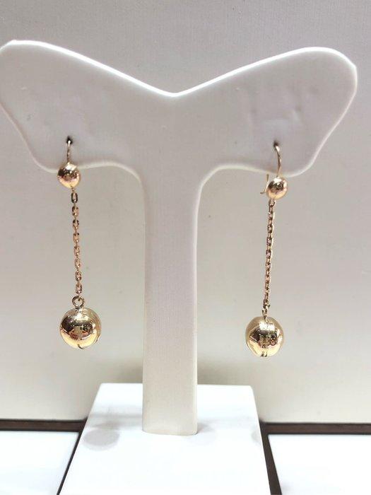 黃K金耳環,圓珠垂吊式耳環,時尚簡約好搭配,簡單耐看適合平時配戴,超值優惠價3460元