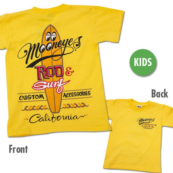 (I LOVE樂多)MOONEYES Kids ROD & SURF California T-Shirt兒童短袖衣服
